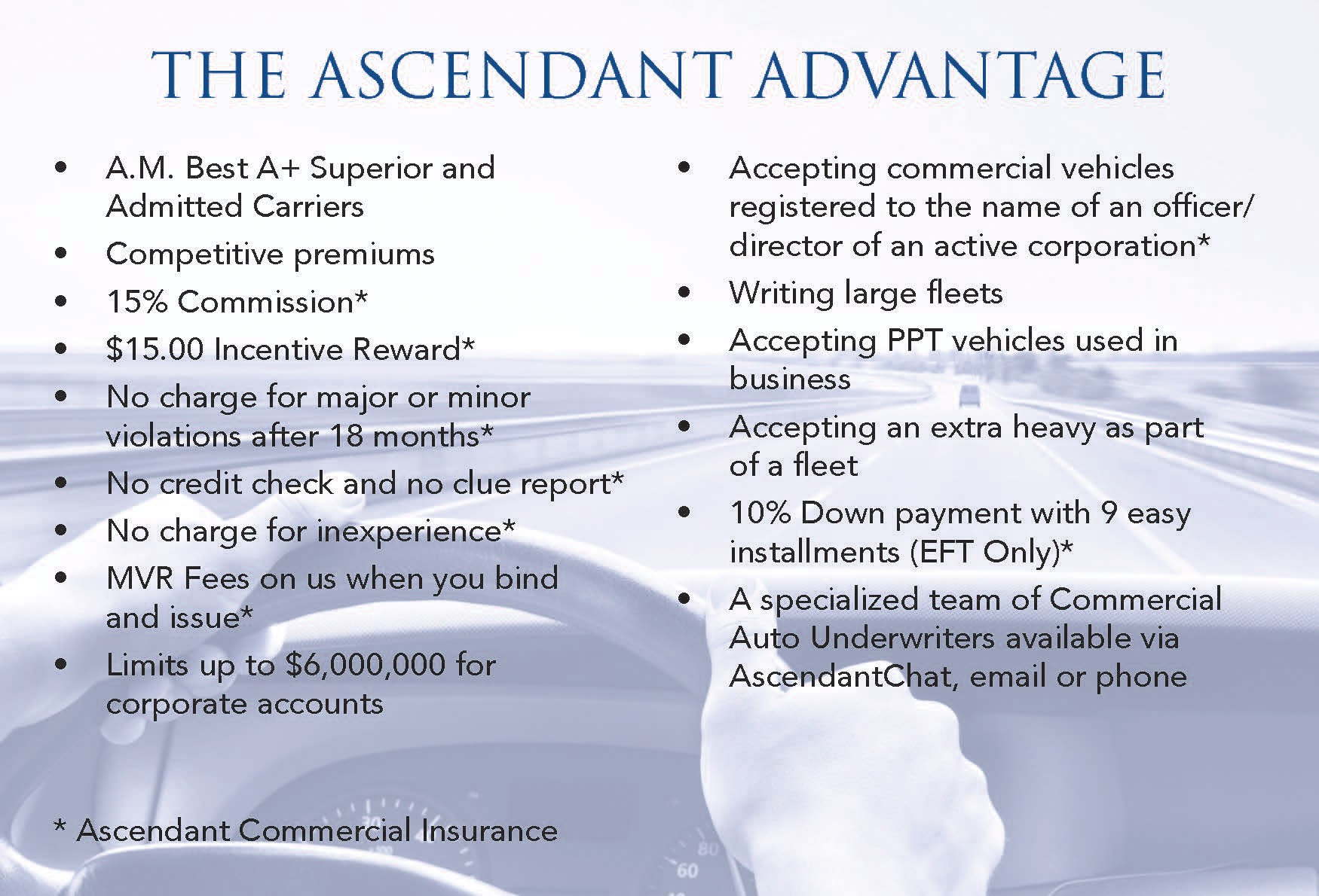 Commercial Auto | Ascendant Insurance