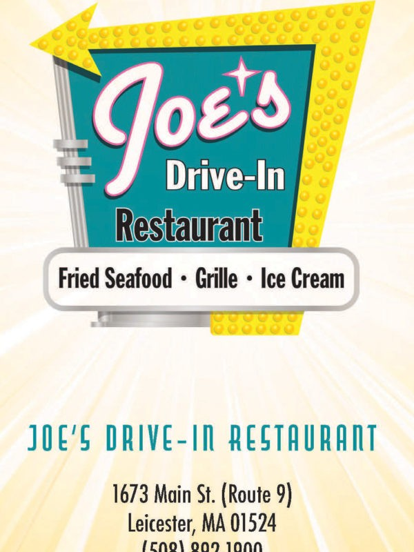 Joe's Drive-In Restaurant Brochure