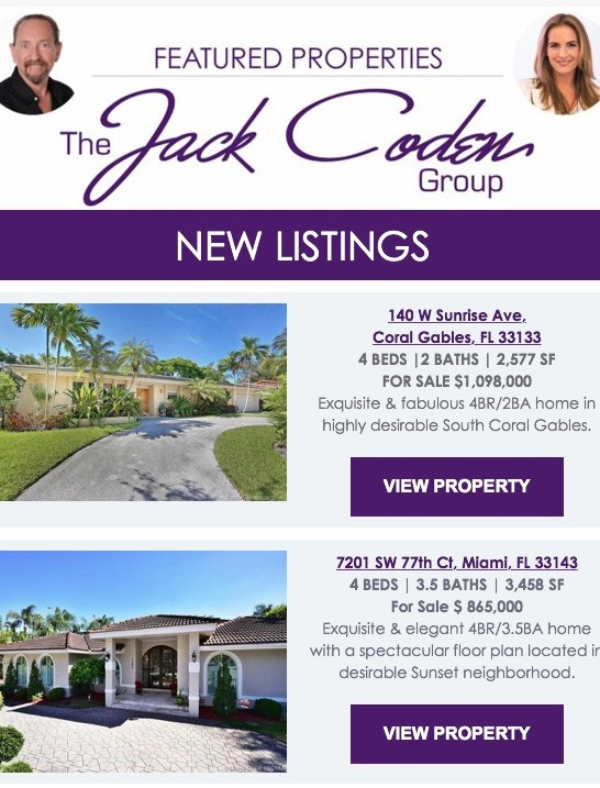 Jack Coden Group – New Listings